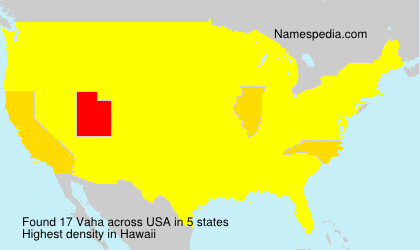 Surname Vaha in USA