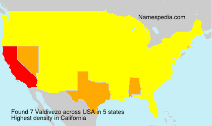 Surname Valdivezo in USA
