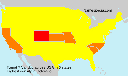 Surname Vanduc in USA