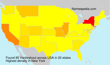 Surname Vanlieshout in USA