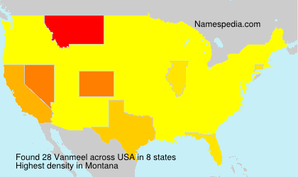Surname Vanmeel in USA
