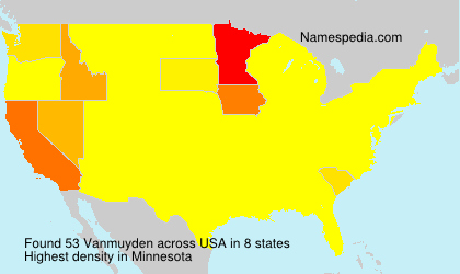 Surname Vanmuyden in USA