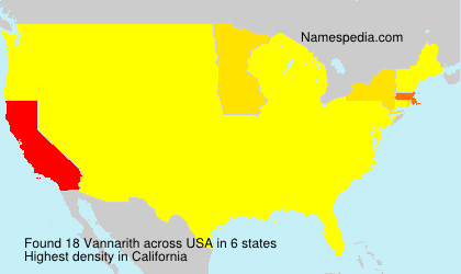 Surname Vannarith in USA