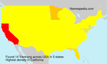 Surname Vantrang in USA