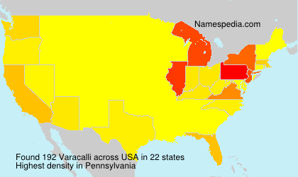Surname Varacalli in USA