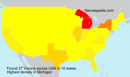 Surname Varana in USA