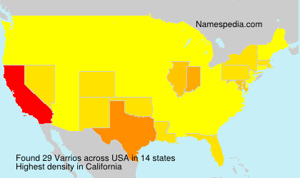 Surname Varrios in USA