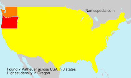 Surname Vatheuer in USA