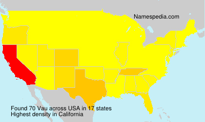 Surname Vau in USA