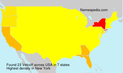 Surname Velcoff in USA