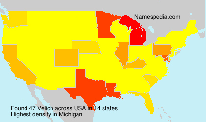 Surname Velich in USA