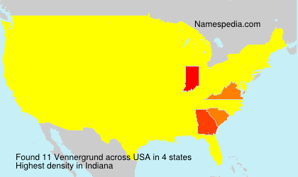Surname Vennergrund in USA