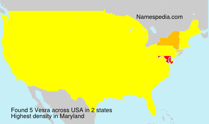 Surname Vesra in USA