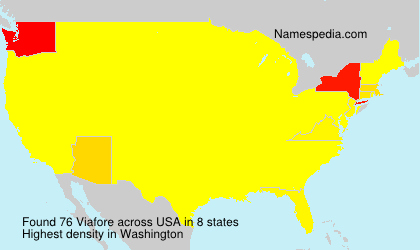 Surname Viafore in USA