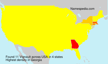 Surname Vignault in USA