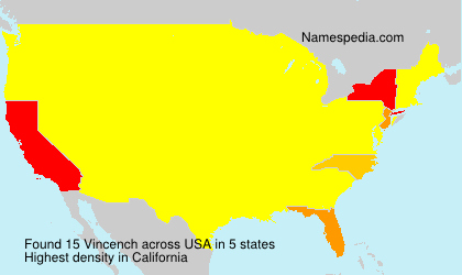 Surname Vincench in USA