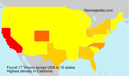 Surname Vincon in USA