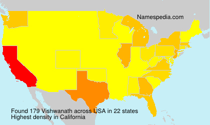 Surname Vishwanath in USA