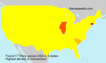Surname Visny in USA