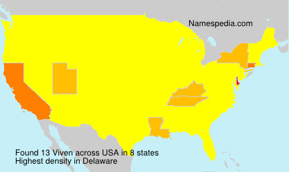 Surname Viven in USA