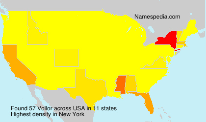 Surname Vollor in USA
