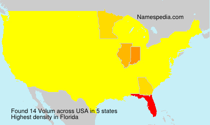 Surname Volum in USA