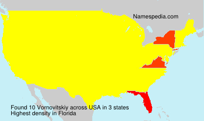 Surname Vornovitskiy in USA