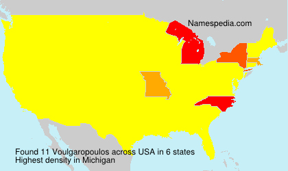 Surname Voulgaropoulos in USA