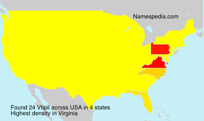 Surname Vtipil in USA