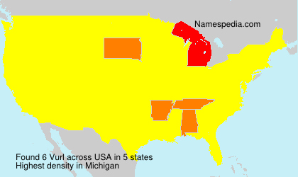 Surname Vurl in USA