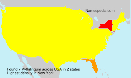 Surname Vythilingum in USA