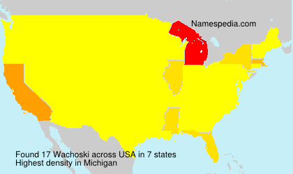 Surname Wachoski in USA