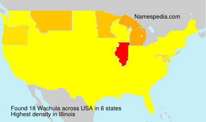 Surname Wachula in USA