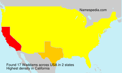 Surname Waddams in USA