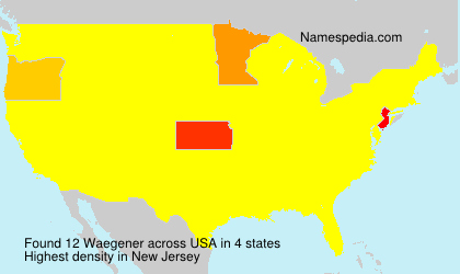 Surname Waegener in USA