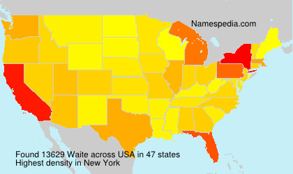 Surname Waite in USA