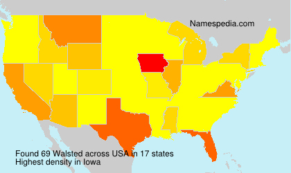 Surname Walsted in USA