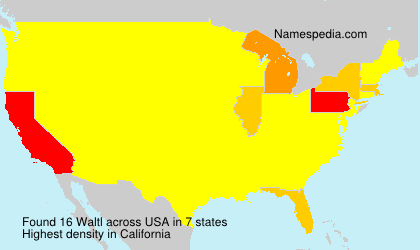 Surname Waltl in USA