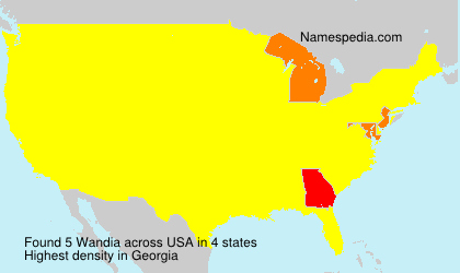 Surname Wandia in USA