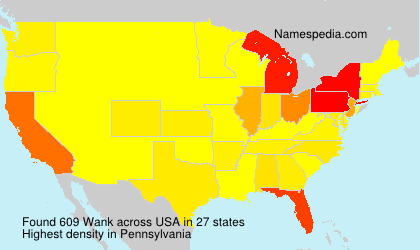 Surname Wank in USA