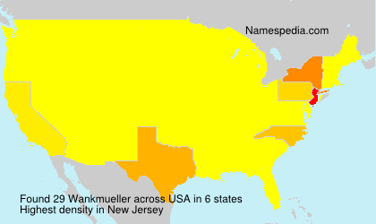 Surname Wankmueller in USA