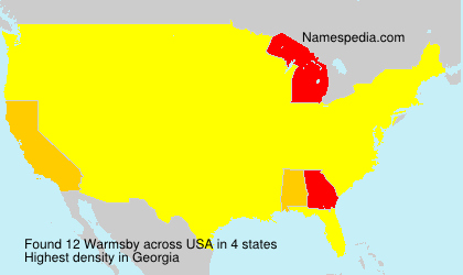 Surname Warmsby in USA