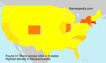 Surname Warot in USA