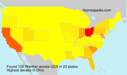 Surname Warther in USA