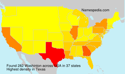 Surname Washinton in USA