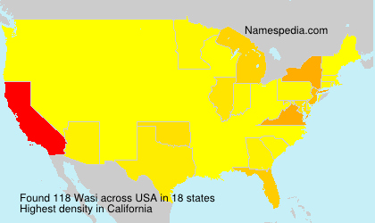 Surname Wasi in USA