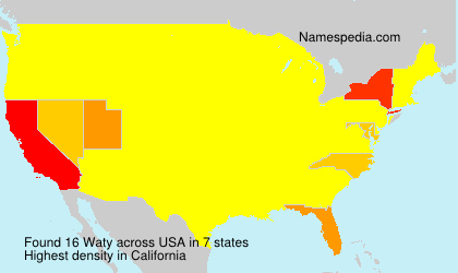 Surname Waty in USA