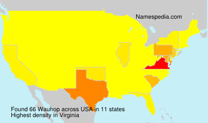 Surname Wauhop in USA
