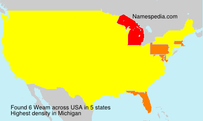 Surname Weam in USA