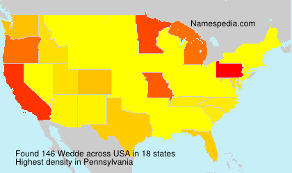 Surname Wedde in USA